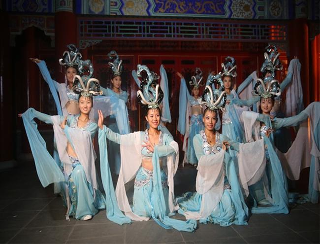 蓬莱三仙山风景区举行拜月仪式